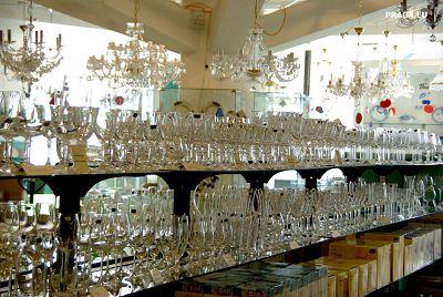 Декоративные настольные лампы со стеклянными плафонами